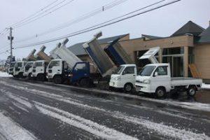 排雪用ダンプ達